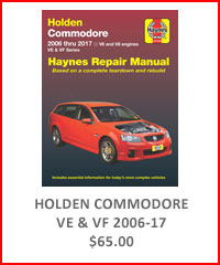 Holden Commodore VE & VF Repair Manual 2016-17