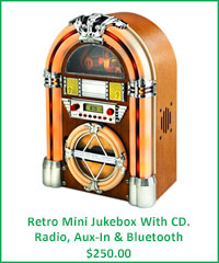 retro Mini Jukebox With Bluetooth