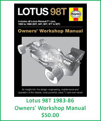 Lotus 98T Owner's Workshop Manual