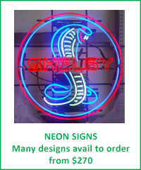 NEON SIGNS - many car designs available to order