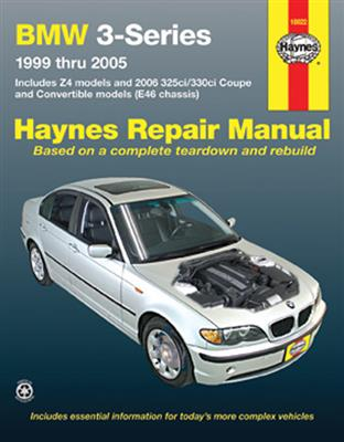 BMW 3 Series & Z4 1999-2005 Repair Manual 2.5 2.8 3.0 Incl 2006 325/330 Coupe & Convertible Models - Click Image to Close