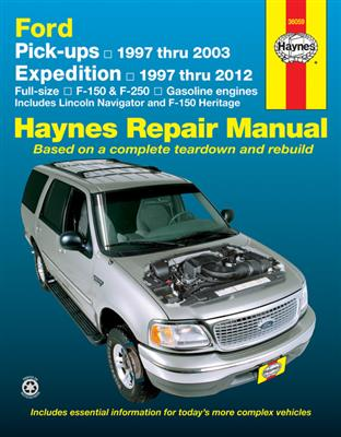 Ford F-150 & F-250 Pickups 1997-2003 And Expedition 1997-2012 Repair Manual Incl Lincoln Navigator - Click Image to Close