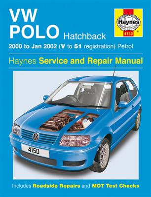 VW Polo 2000-02 Repair Manual 1.0 1.4 Petrol Hatchback - Click Image to Close