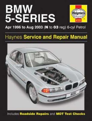 BMW 5 Series 1996-03 Repair Manual 6 Cylinder Petrol 520 523 525 528 530 - Click Image to Close