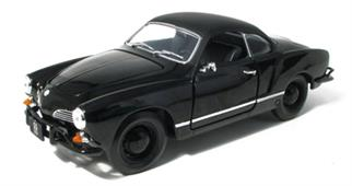 Volkswagen Karmann Ghia 1966 Black 1:18 Diecast Model