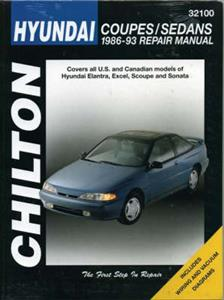 Hyundai Accent Lantra Sonata 1986-93 Repair Manual