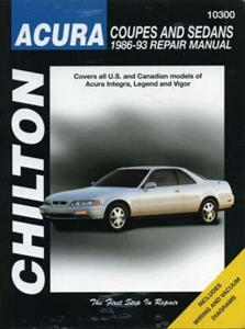 Acura 1986-93 Repair Manual Integra Legend & Vigor (Accord Inspire)