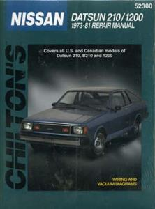 Datsun 210/1200 1973-81 Repair Manual (NZ Sunny/120Y)