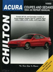 Acura Coupes And Sedans 1994-00 Repair Manual - NZ Honda Integra Legend & Vigor