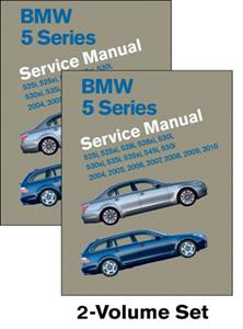 BMW 5 Series 2004-10 E60/61 Factory Service Manual 2 Vol Set - Petrol 525 528 530 535 545 550