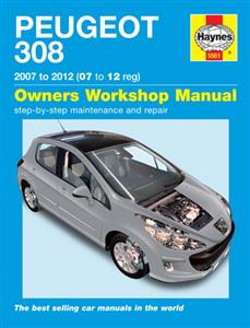 Peugeot 308 2007-12 Petrol & Diesel Repair Manual