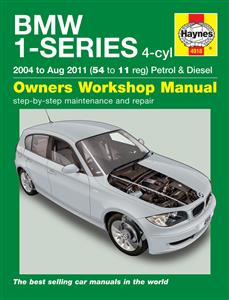 BMW 1 Series 2004-11 Repair Manual 4 Cylinder Petrol & Diesel