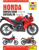 Honda CBR125/250R & CRF250L/M 2011-2014 Repair Manual: