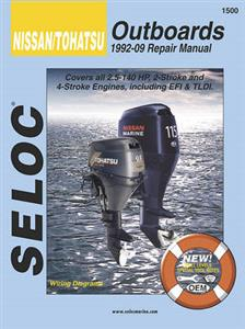 Nissan/Tohatsu Outboards 1992-2009 Repair Manual 2 & 4 Stroke 2.5-140HP