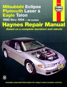 Mitsubishi Eclipse Plymouth Laser & Eagle Talon 1990-94 Repair Manual (covers mechanicals of Galant VR4)