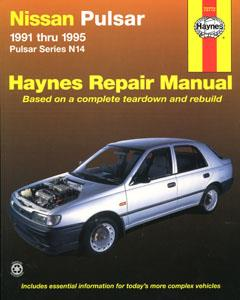 Nissan Pulsar N14 1991-95 (NZ Sentra) Repair Manual 1.6 & 2.0