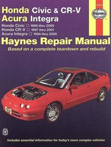 Honda Civic 1996-00 CR-V 1997-01 & Integra 1994-00 Repair Manual