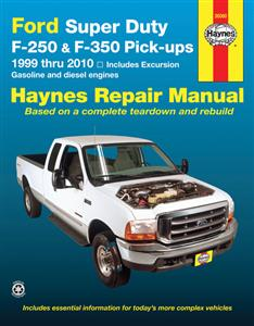 Ford Super Duty F-250 & F-350 Pickups 1999-10 Petrol & Diesel Repair Manual Incl Excursion