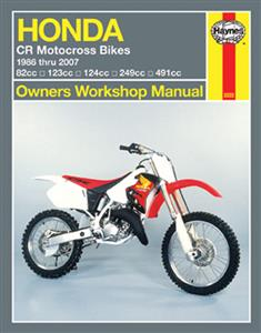 Honda CR80R CR125R CR250R & CR500R 1986-2007 Repair Manual
