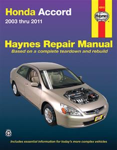 Honda Accord 2003-11 Repair Manual (Not NZ Accord Euro)
