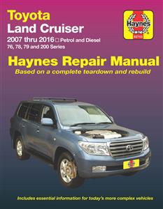Toyota Landcruiser 2007-16 Repair Manual Petrol & Diesel
