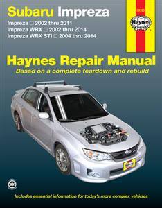 Subaru Impreza 2002-11 WRX 2002-14 & STi 2004-14 Repair Manual