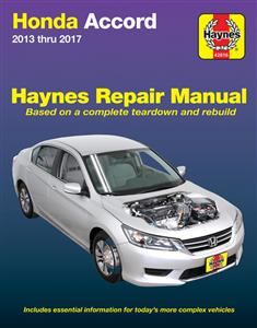 Honda Accord 2013-17 Repair Manual DUE END OF 2017