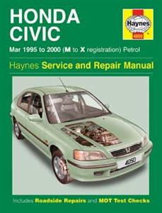 Honda Civic 1995-01 Repair Manual Petrol 1.4 1.5 1.6 And 1.8 Inc DOHC