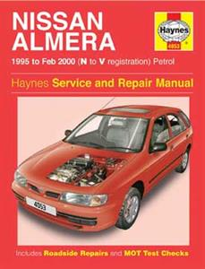 Nissan Almera 1995-00 (NZ Sentra/Pulsar 1996on) Repair Manual 1.4 & 1.6 Petrol
