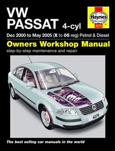VW Passat 2000-05 Repair Manual 4 Cylinder Petrol And Diesel Not 4Motion