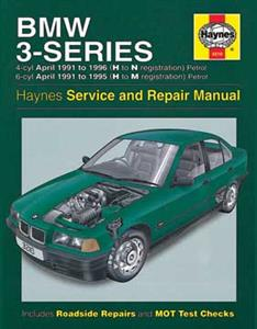 BMW 3 Series 1991-99 Petrol Repair Manual 1.6 1.8 1.9 2.0 2.5 2.8 NOT Touring Convertible M3