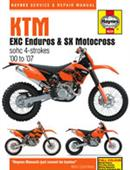 KTM EXC Enduros & SX Motocross 2000-07 Repair Manual 4 Stroke Only