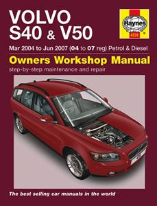 Volvo S40 & V50 2004-07 Repair Manual Petrol & Diesel