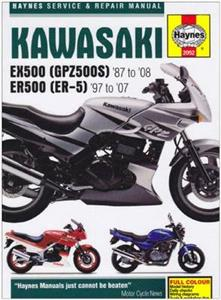 Kawasaki EX500 (GPZ500S) & ER500 (ER-5) 1987-2008 Repair Manual