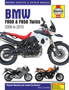 BMW F800 & F650 Twins 2006-10 Repair Manual