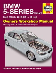 BMW 5 Series 2003-10 Diesel Repair Manual 520d 525d 530d