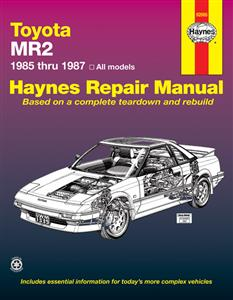 Toyota MR2 1985-87 (NZ 1984-89) Repair Manual