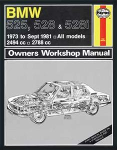 BMW 525 528 & 528I 1973-81 Repair Manual