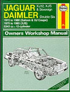 Jaguar XJ12 1972-88 & XJ-S 1975-85 Repair Manual V12