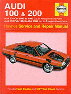 Audi 100 & 200 1982-90 Repair Manual FWD not quattro