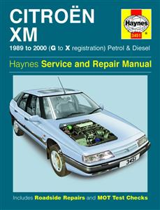 Citroen XM 1989-98 4 Cylinder Petrol & Diesel Repair Manual