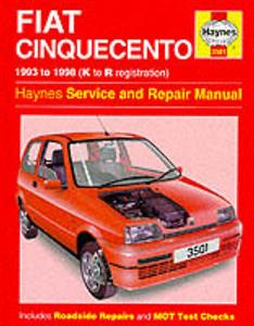 Fiat Cinquecento 1993-98 Repair Manual 0.9 1.1 Petrol