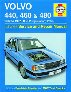 Volvo 440 460 And 480 1987-97 Repair Manual Petrol