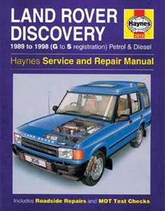 Land Rover Discovery 1989-98 Repair Manual 3.5 & 3.9 Petrol & 2.5 4Cyl Diesel