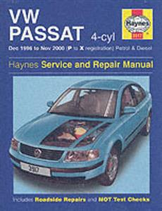 VW Passat 1996-00 Repair Manual 4 Cylinder Petrol & Diesel