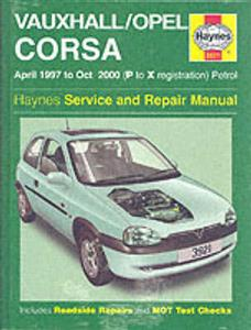 Vauxhall/Opel Corsa 1997-00 Repair Manual (NZ Holden Barina) Petrol 1.0 1.2 1.4 1.6