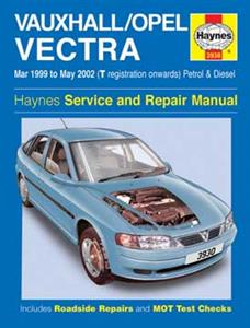 Vauxhall/Opel Vectra (NZ Holden Vectra) 1999-02 Repair Manual Petrol & Diesel