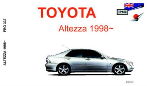 Toyota Altezza 1998-05 Translated Owner's Handbook