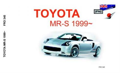 Toyota MR-S 1999-2007 Translated Owner's Handbook
