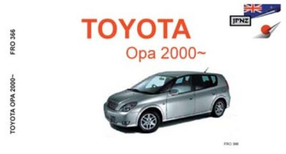 Toyota Opa 2000-2005 Translated Owner's Handbook